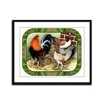 Barnyard Game Fowl Framed Panel Print
