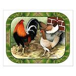 Barnyard Game Fowl Small Poster
