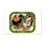 Barnyard Game Fowl 22x14 Wall Peel