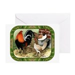 Barnyard Game Fowl Greeting Card