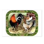 Barnyard Game Fowl Postcards (Package of 8)