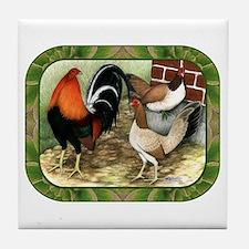 Barnyard Game Fowl Tile Coaster