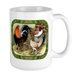 Barnyard Game Fowl Large Mug