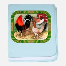 Barnyard Game Fowl baby blanket