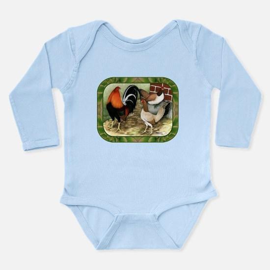 Barnyard Game Fowl Long Sleeve Infant Bodysuit