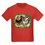 Barnyard Game Fowl Kids Dark T-Shirt