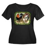 Barnyard Game Fowl Women's Plus Size Scoop Neck Da