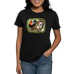Barnyard Game Fowl Women's Dark T-Shirt