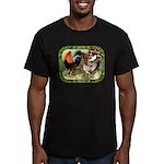 Barnyard Game Fowl Men's Fitted T-Shirt (dark)