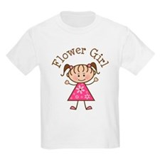 Flower Girl Stick Figure T-Shirt