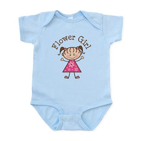 Flower Girl Stick Figure Infant Bodysuit