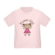 Flower Girl Stick Figure T