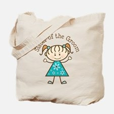 Sister of the Groom Stick Figure Tote Bag