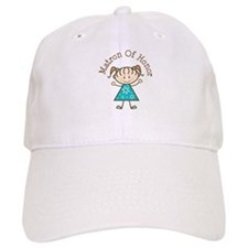 Matron of Honor Stick Figure Baseball Cap