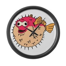 Vincent Porcupinefish Large Wall Clock