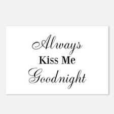 Always Kiss Me Goodnight Postcards (Package of 8)