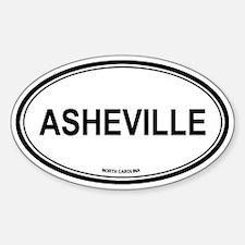 Asheville (North Carolina) Oval Decal
