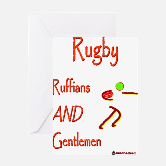 Rugby Ruffians 6000 Greeting Card