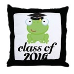 Class of 2014 Frog Throw Pillow
