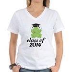 Class of 2014 Frog Women's V-Neck T-Shirt