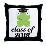 Class of 2018 Frog Throw Pillow