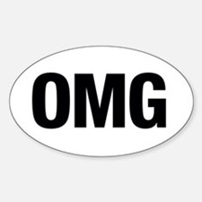 OMG Sticker (Oval)