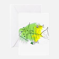 Primitive Fish Greeting Card
