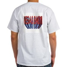 3 D VEGAS BABY ! Ash Grey T-Shirt