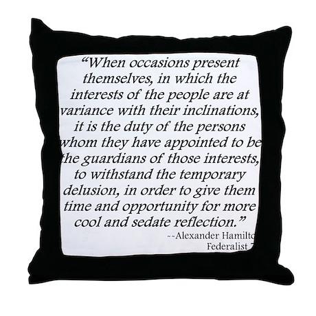 Federalist 71 Throw Pillow