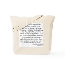 Federalist 71 Tote Bag