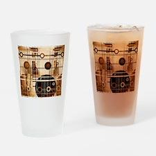 Geometric Grunge Drinking Glass