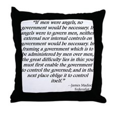 Federalist 51 Throw Pillow