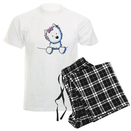 Pocket Westie Girl Men's Light Pajamas
