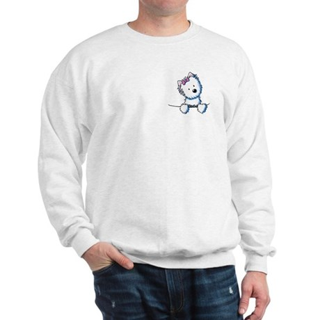 Pocket Westie Girl Sweatshirt