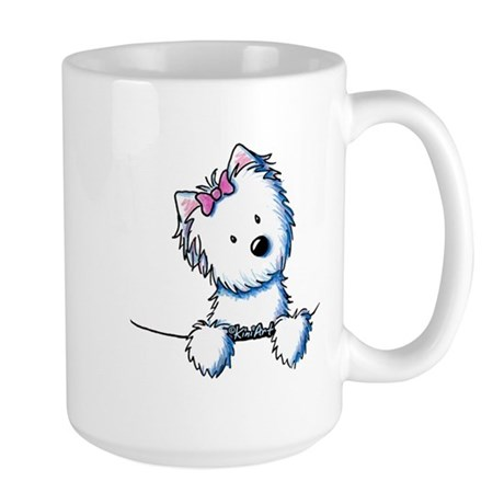 Pocket Westie Girl Large Mug
