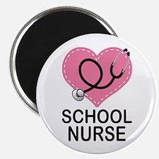 School Nurse Heart Magnet