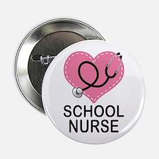 "School Nurse Heart 2.25"" Button"