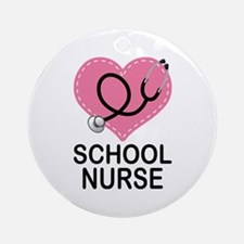 School Nurse Heart Ornament (Round)