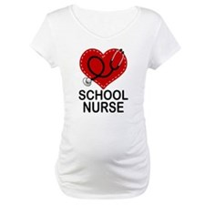 School Nurse Heart Shirt