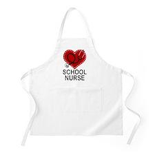 School Nurse Heart Apron