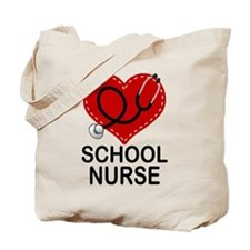 School Nurse Heart Tote Bag