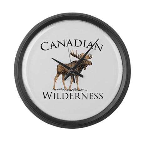 canadian moose large wall clock by robwilliams canada shop