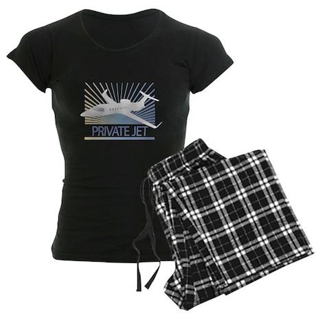 Aircraft Private Jet Women's Dark Pajamas