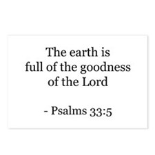 Psalms 33:5 Postcards (Package of 8)
