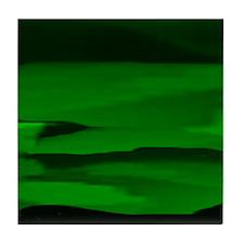 Green Lunar Dreams Tile Coaster