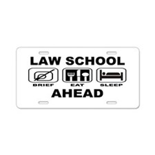 Law School Ahead Aluminum License Plate