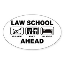 Law School Ahead Decal