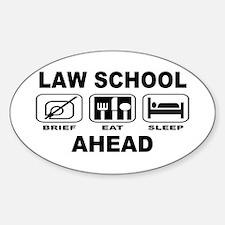 Law School Ahead Decal