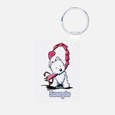 Scorpio Westie Keychains