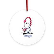 Scorpio Westie Ornament (Round)